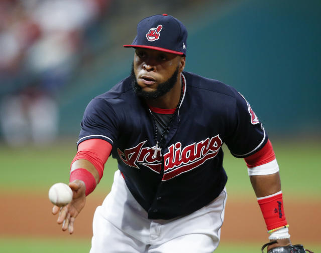 Cleveland Indians' Carlos Santana hit 23 home runs and had 79 RBI last season. (AP)