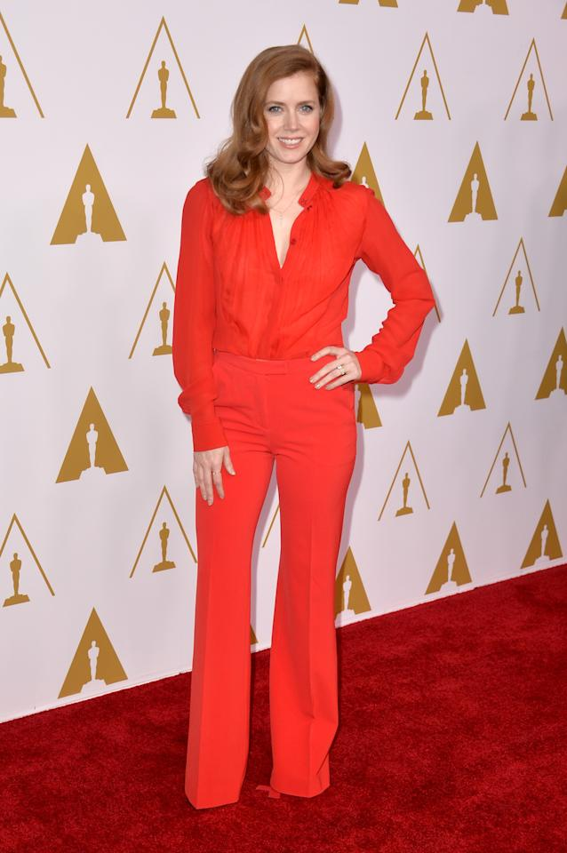 BEVERLY HILLS, CA - FEBRUARY 10: Actress Amy Adams attends the 86th Academy Awards nominee luncheon at The Beverly Hilton Hotel on February 10, 2014 in Beverly Hills, California. (Photo by Kevin Winter/Getty Images)