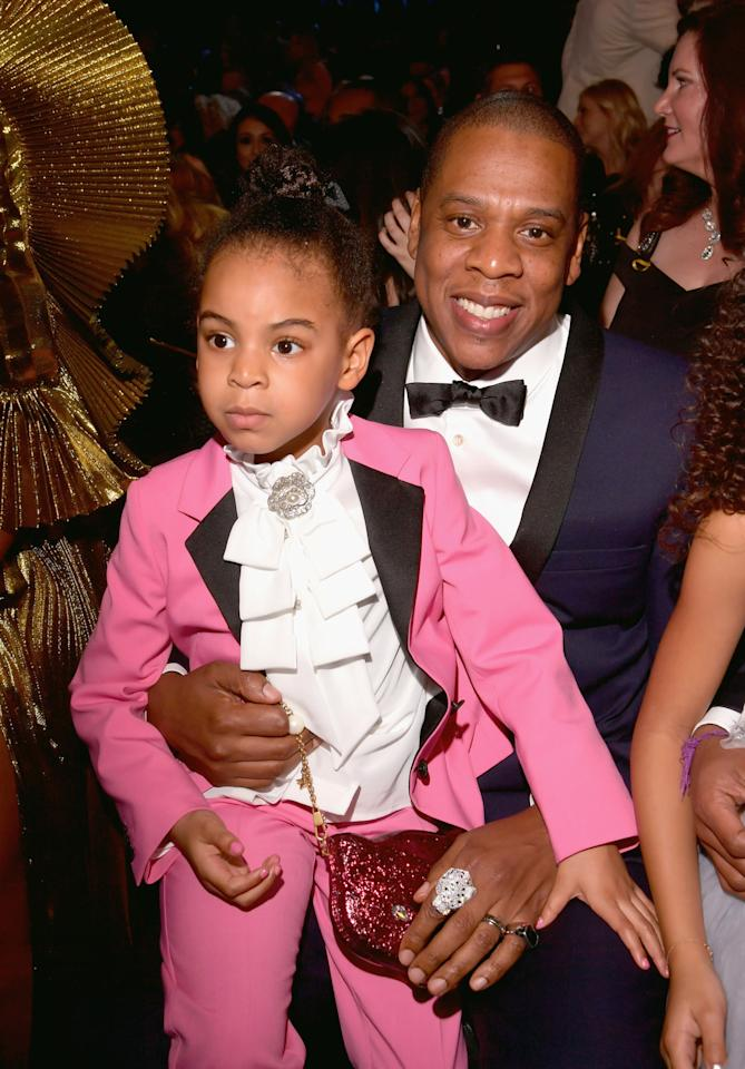 <p>Beyoncé and Jay Z's daughter carried a cute Gucci bag that she was entirely obsessed with. (Photo: Getty Images) </p>