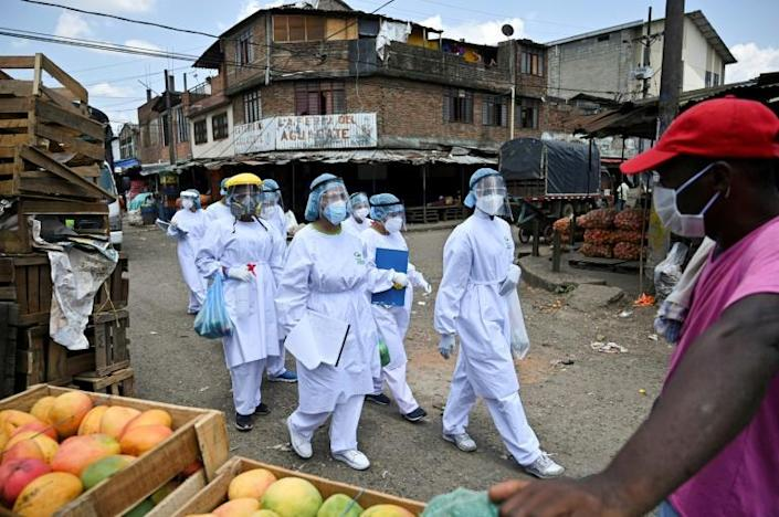 COVID-19 has killed more than 315,000 people worldwide and caused devastating economic damage (AFP Photo/Luis ROBAYO)