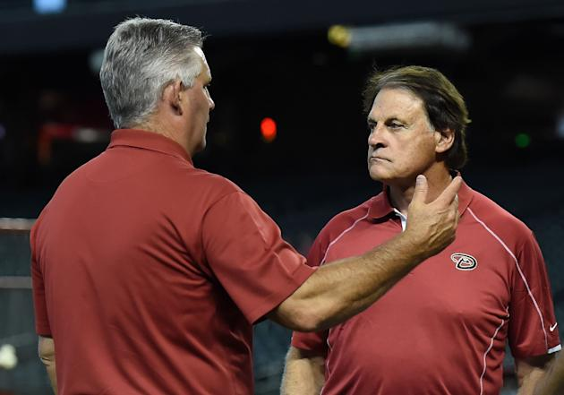 Towers and Tony La Russa. (Getty Images)