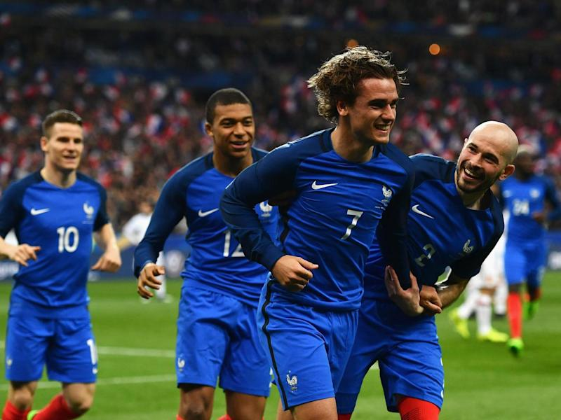 Griezmann celebrates his goal before it was disallowed (Getty)