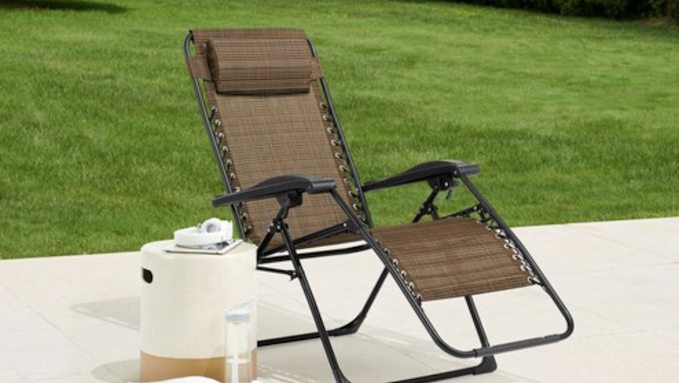 Lounge by the pool in total comfort with this best-selling antigravity chair.