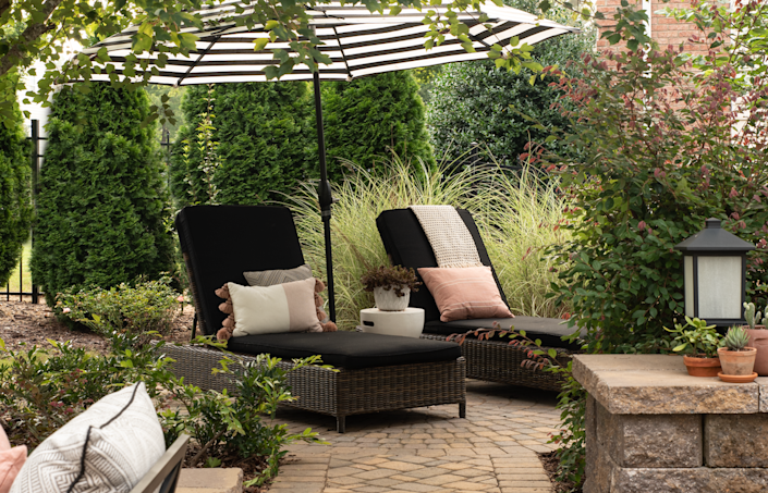 Extend the personality of your indoor space to you outdoor space, as well, suggests Susan Hill, owner of Charlotte-based Susan Hill Interior Design.