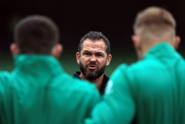 Ireland head coach Andy Farrell has 12 uncapped players in his squad