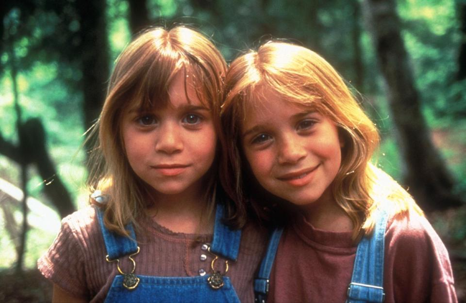 """<p>Cuties Mary-Kate and Ashley Olsen star in this family-friendly film that is basically the same plot as <em>The Parent Trap</em>: two young girls who happen to look exactly alike meet at summer camp and decide to trade places. Hijinks ensure, including a plot to make their guardians fall in love. </p> <p><a href=""""https://www.amazon.com/Takes-Two-Kirstie-Alley/dp/B07D7N8XCB"""" rel=""""nofollow noopener"""" target=""""_blank"""" data-ylk=""""slk:Available to rent on Amazon Prime Video"""" class=""""link rapid-noclick-resp""""><em>Available to rent on Amazon Prime Video</em></a></p>"""