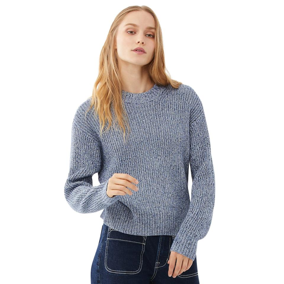 "<br><br><strong>Free Assembly</strong> Chunky Knit Sweater, $, available at <a href=""https://go.skimresources.com/?id=30283X879131&url=https%3A%2F%2Fwww.walmart.com%2Fip%2FFree-Assembly-Women-s-Marled-Chunky-Crewneck-Sweater%2F837998436%3FvariantFieldId%3Dactual_color"" rel=""nofollow noopener"" target=""_blank"" data-ylk=""slk:Walmart"" class=""link rapid-noclick-resp"">Walmart</a>"