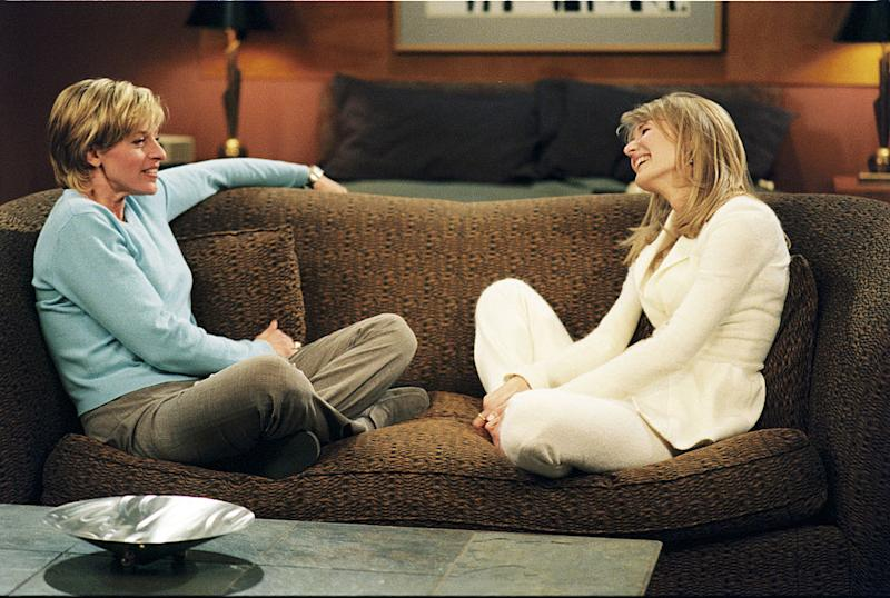 "Ellen DeGeneres's character came out as a lesbian on a landmark episode of the sitcom ""Ellen"" that aired on April 30, 1997. (Photo: Walt Disney Television via Getty Images)"