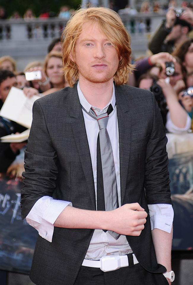 """Domnhall Gleeson at the London world premiere of <a href=""""http://movies.yahoo.com/movie/1810004624/info"""">Harry Potter and the Deathly Hallows - Part 2</a> on July 7, 2011."""