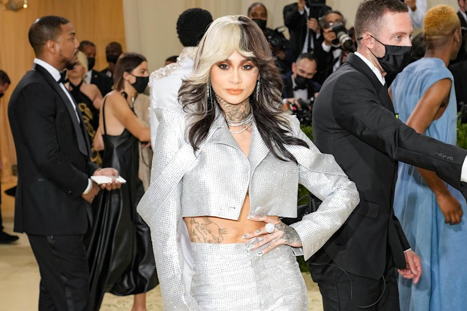 NEW YORK, NEW YORK - SEPTEMBER 13: Kehlani attends The 2021 Met Gala Celebrating In America: A Lexicon Of Fashion at Metropolitan Museum of Art on September 13, 2021 in New York City. (Photo by Jeff Kravitz/FilmMagic)
