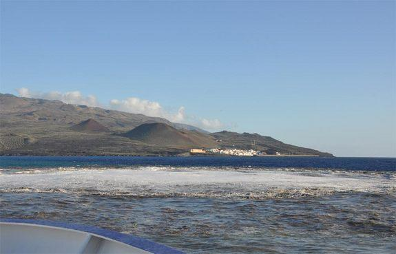 The eruption of the underwater volcano south of El Hierro Island, Canary Islands, Spain, seen on Nov. 5, 2011. This photo was released July 5, 2012 with research on the effects of these underwater eruptions.
