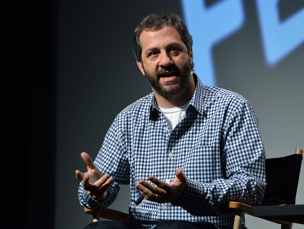 NEW YORK, NY - APRIL 19:  Filmmaker Judd Apatow speaks during the Tribeca Talks Director's Series: 100 Years of Universal during the 2012 Tribeca Film Festival at the Borough of Manhattan Community College on April 19, 2012 in New York City.  (Photo by Slaven Vlasic/Getty Images)