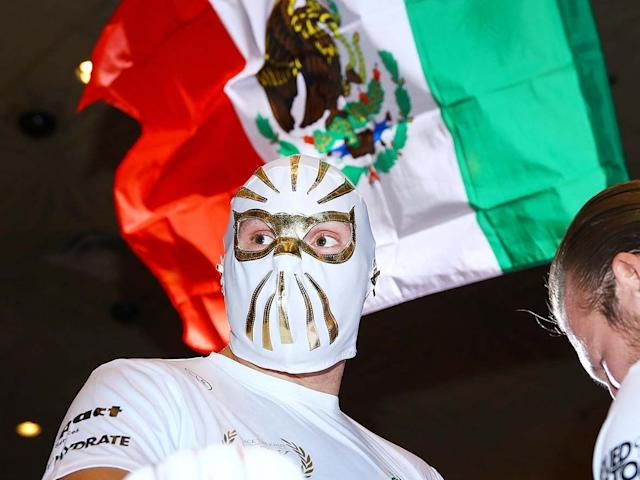 Fury adopted the colours of Mexico in his open workout: PA