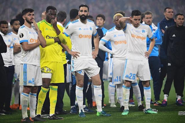 Marseille have a crucial game at home to Amiens this weekend and a second chance to qualify for the Champions League (AFP Photo/FRANCK FIFE)
