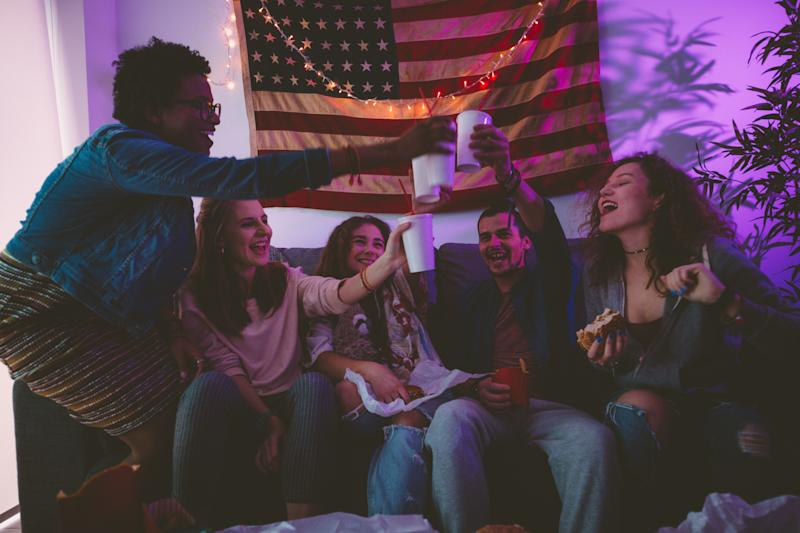 College parties and a rise in COVID-19 infections have led to the cancellation of in-person classes this week. (Getty Images)