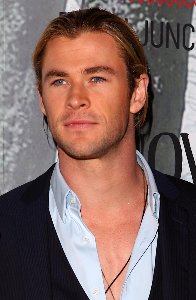 SYDNEY, AUSTRALIA - JUNE 19:  Chris Hemsworth arrives at the Snow White & The Huntsman Australian Premiere at Event Cinemas Bondi Junction on June 19, 2012 in Sydney, Australia.  (Photo by Marianna Massey/Getty Images)