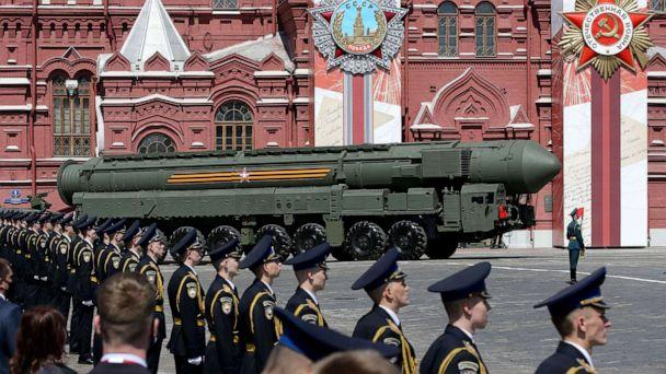 PHOTO:A Russian nuclear missile rolls along Red Square during the military parade in Moscow, June 24, 2020. (Mikhail Svetlov/Getty Images, FILE)