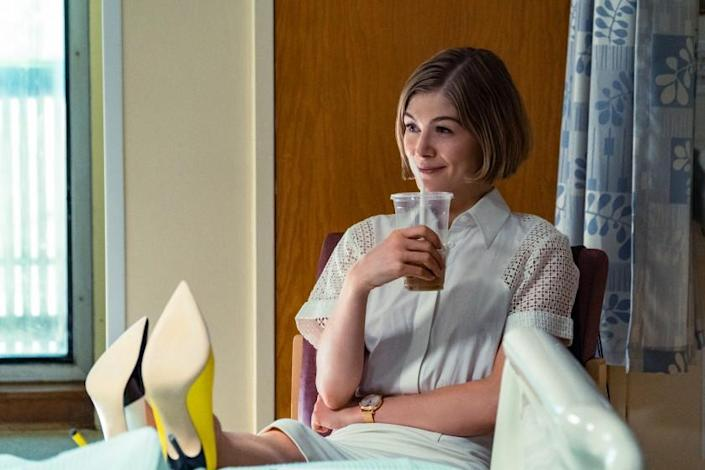 "Rosamund Pike as Marla in ""I Care A Lot"" on Netflix. Cr: Seacia Pavao/NETFLIX"
