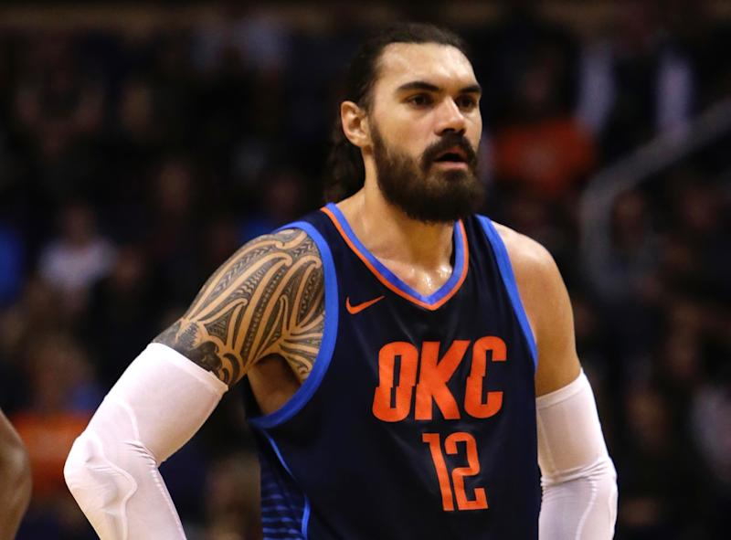 How Did Steven Adams Not Flinch Taking This Jae Crowder Elbow To Face? |  NBA | NESN.com
