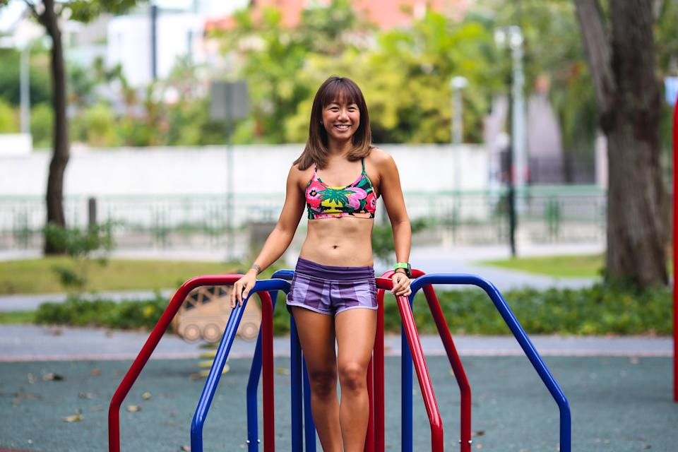 Tammi Lim is a personal trainer who used to fail her NAPFA test runs as a kid. (PHOTO: Cheryl Tay)