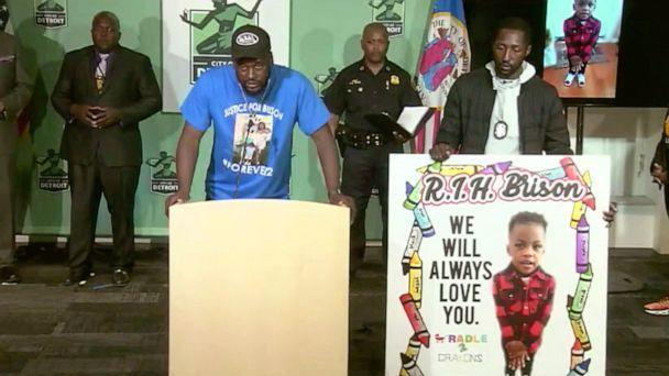 PHOTO: Brian Christian, the father of Brison, 2, who was shot and killed, speaks at a press conference in Detroit, June 22, 2021. (City of Detroit )
