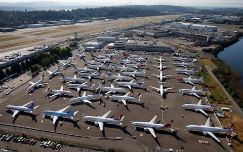 <span>Boeing's 737 Max 8 is grounded following fatal crashes</span> <span>Credit: Lindsey Wasson/Reuters </span>