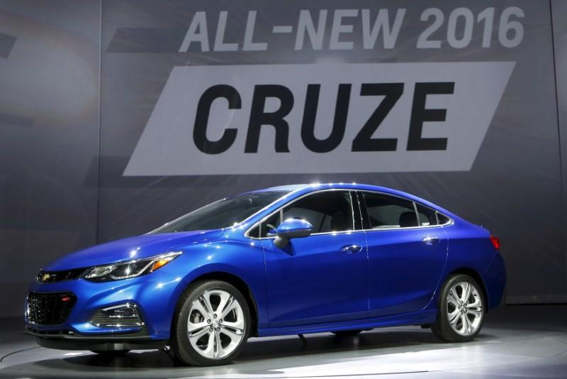 General Motors introduces the new 2016 Chevy Cruze vehicle at the Filmore Theater in Detroit