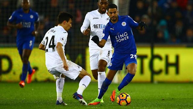 <p>The reigning PFA Player of the Year might currently appear a shadow of the man who scored 17 goals last season, but he is not alone amongst his title-winning teammates. </p> <br><p>However, amongst the terrible collective results there have been glimmers of what Mahrez is really capable of. The Algerian has been prolific in the Champions League, bagging four in five appearances, helping the Foxes to the Champions League second round.</p> <br><p>While links to Europe's big hitters no long persist with such regularity, on his day Mahrez is still a magical player with the unfettered pace and skill to terrorise any and every defence around.</p> <br><p><strong>On the bench:</strong></p> <p><em>Xherdan Shaqiri</em></p>
