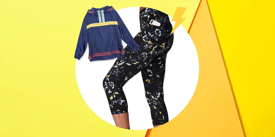 """<p>This winter may have felt like it lasted an entire year, but finally, warmer temperatures and sunnier days are upon us. Outdoor workout and picnic season is here just in time for your <a href=""""https://www.womenshealthmag.com/fitness/g23347042/best-thermal-leggings/"""" rel=""""nofollow noopener"""" target=""""_blank"""" data-ylk=""""slk:fleece-lined leggings"""" class=""""link rapid-noclick-resp"""">fleece-lined leggings</a> and fuzzy socks to take a break, and this new season of warm weather is the perfect excuse to stock up on your favorite summer workout gear from fun <a href=""""https://www.womenshealthmag.com/fitness/a19037715/best-sports-bra/"""" rel=""""nofollow noopener"""" target=""""_blank"""" data-ylk=""""slk:sports bras"""" class=""""link rapid-noclick-resp"""">sports bras</a> and crop tops to <a href=""""https://www.womenshealthmag.com/fitness/g27497593/best-moisture-wicking-socks-women/"""" rel=""""nofollow noopener"""" target=""""_blank"""" data-ylk=""""slk:sweat-friendly socks"""" class=""""link rapid-noclick-resp"""">sweat-friendly socks</a> and even <a href=""""https://www.womenshealthmag.com/health/g28626566/breathable-underwear/"""" rel=""""nofollow noopener"""" target=""""_blank"""" data-ylk=""""slk:underwear"""" class=""""link rapid-noclick-resp"""">underwear</a>. With athletic wear becoming trendier than ever, there have never been more or better options out there.</p><p>Now's the time to stock up on the perfect lightweight tanks, breathable <a href=""""https://www.womenshealthmag.com/fitness/a19037715/best-sports-bra/"""" rel=""""nofollow noopener"""" target=""""_blank"""" data-ylk=""""slk:sports bras"""" class=""""link rapid-noclick-resp"""">sports bras</a>, ultra-thin leggings, sweat-resistant socks, and more for your sweatiest workouts or beach vacations. The wide range of gear below even features high-tech fabrics, including ones that cool your body down, protect you from UV rays, and even keep your skin hydrated and moisturized (yes, that's really a thing). </p><p>Each of these pieces are strategically designed by brands to reduce chafing, create airflow around your body, and ev"""