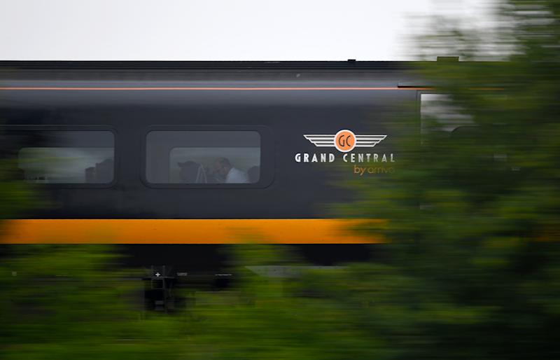 A Grand Central train passes through Sandy in Cambridgeshire. Photo: Joe Giddens/PA Wire/PA Images