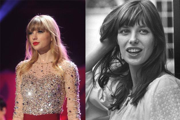 When it comes to the fringed hairstyle, Jane Birkin (right) always comes to mind. There was just always something so French about her even if she's English. Currently, we find Taylor Swift's (left) rendition cute and age-appropriate.