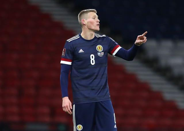 Manchester United midfielder Scott McTominay was one of several Scotland players singled out for praise by Rice.