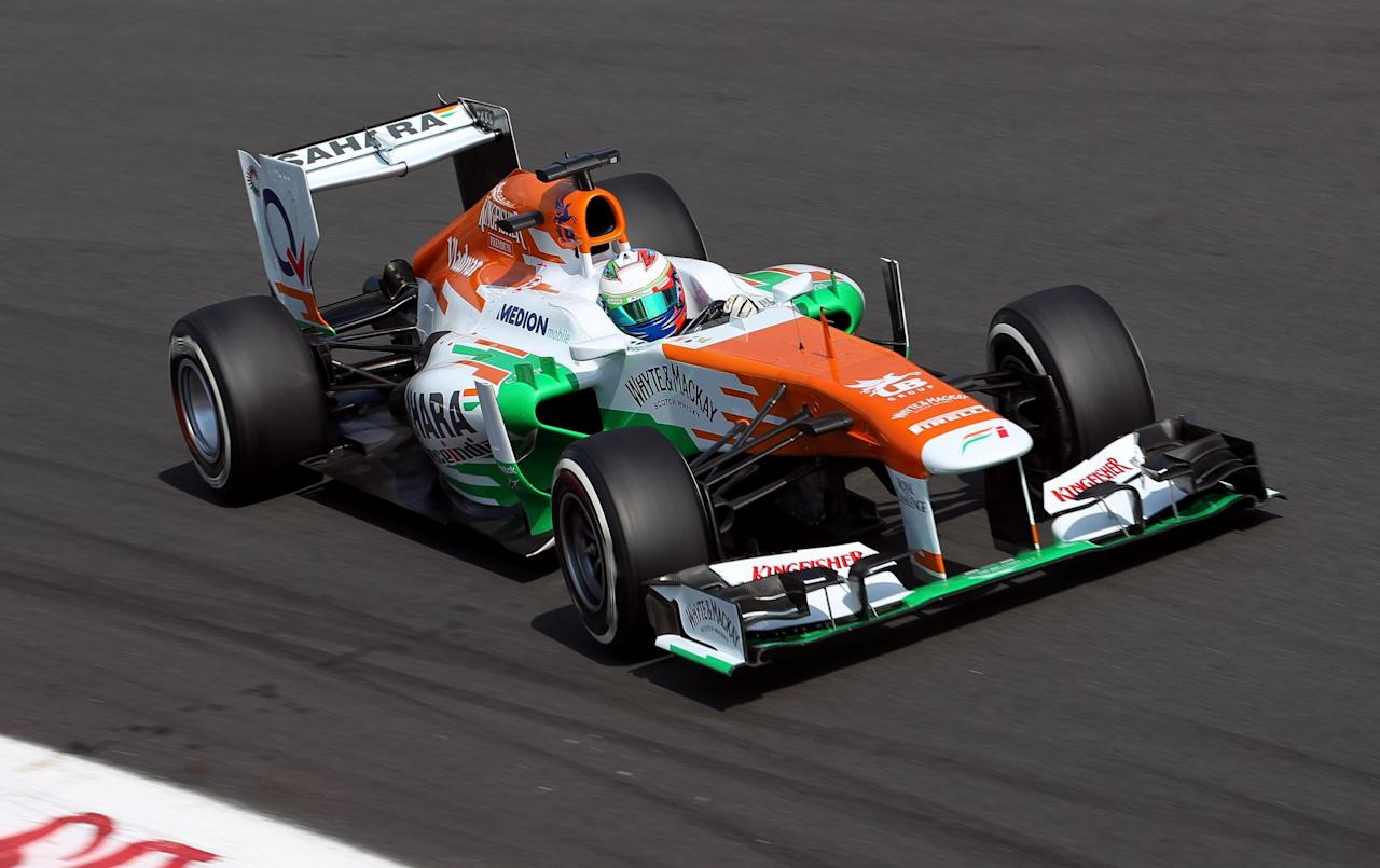 Force India's Paul di Resta during qualifying day for the 2013 Italian Grand Prix at the Autodromo di Monza in Monza, Italy.