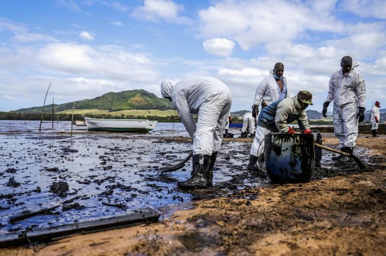Thousands of volunteers, many smeared head-to-toe in black sludge, have marshalled along the coastline in a desperate attempt to hold back the oily tide