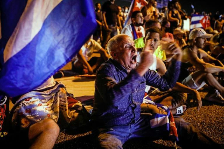 In Miami and the US capital, Cuban-Americans rallied in support of the anti-government demonstrations