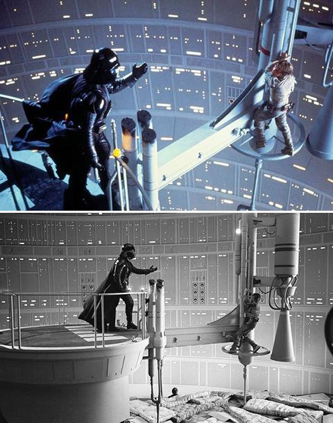 <b>The Empire Strikes Back</b> Perhaps the most iconic and parodied moment from the entire original 'Star Wars' trilogy. It's not quite as dramatic though with a pile of what looks like old mattresses dumped in there though.