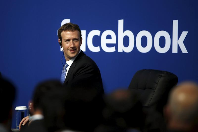 New staff: Mark Zuckerberg made the announcement: Stephen Lam/Reuters