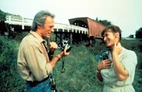 """<p>She's a housewife enjoying an empty home for the first time in years. He's a <em>National Geographic</em> photographer passing through Iowa, taking pictures of local covered bridges. Over the course of three days, Francesca (Meryl Streep) and Robert (Clint Eastwood) experience a kind of cosmically fated, epic love—but is it enough to drastically change their lives? </p><p><a class=""""link rapid-noclick-resp"""" href=""""https://www.amazon.com/Bridges-Madison-County-Clint-Eastwood/dp/B00JMY0OYM?tag=syn-yahoo-20&ascsubtag=%5Bartid%7C10072.g.33383086%5Bsrc%7Cyahoo-us"""" rel=""""nofollow noopener"""" target=""""_blank"""" data-ylk=""""slk:Watch Now"""">Watch Now</a></p>"""