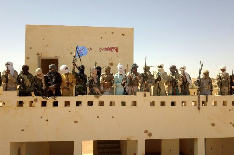 """A group of local armed groups taking part in the """"Menaka without guns"""" mission"""