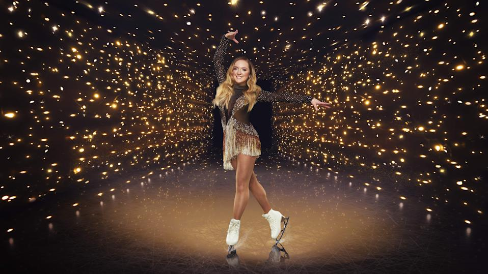 Mandatory Credit: Photo by ITV/Matt Frost/Shutterstock (11663921aq)  Amy Tinkler  'Dancing On Ice' TV Show, Series 13, UK - 17 Jan 2021