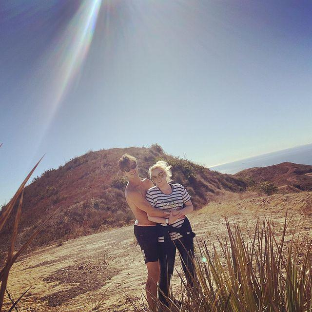 <p>Back in Malibu ahead of the holidays, the couple soaked up some sunshine on an afternoon hike. </p>