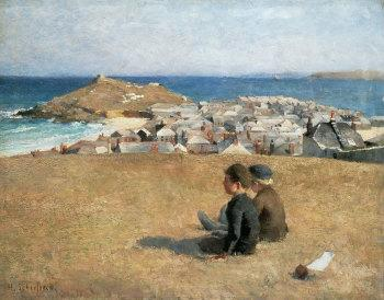 """Helene Schjerfbeck, """"View of St Ives"""" (1887)"""