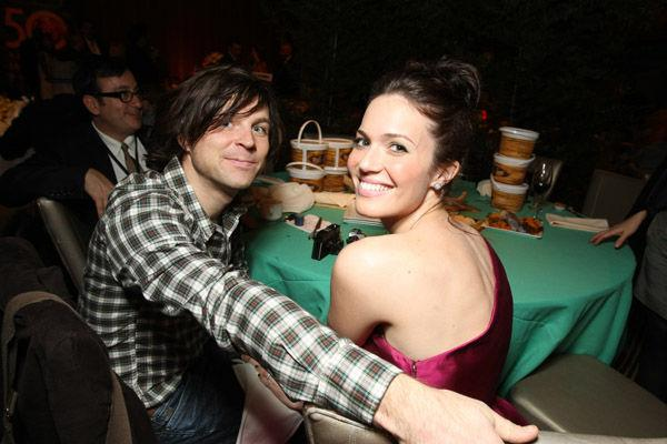 <p>Ryan Adams and Mandy Moore at the afterparty for 'Tangled'. The couple have survived their first year of marriage.</p>