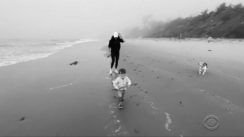 """<p>Archie on the run! Meghan chased her son on the beach in black-and-white white home video footage shared during the Sussexes' sit-down with Winfrey, which aired in March. </p> <p>A few months before, the duchess said their young son was <a href=""""https://people.com/royals/meghan-markle-shares-sweet-update-on-son-archie-he-is-all-over-the-place/"""" rel=""""nofollow noopener"""" target=""""_blank"""" data-ylk=""""slk:adjusting well"""" class=""""link rapid-noclick-resp"""">adjusting well</a> to Santa Barbara and loving all the room to roam.</p> <p>""""We are doing well. [Archie] is so good,"""" she shared in a <a href=""""https://people.com/royals/meghan-markle-and-prince-harry-talk-about-need-for-end-of-structural-racism-in-britain-in-new-interview/"""" rel=""""nofollow noopener"""" target=""""_blank"""" data-ylk=""""slk:video call with the Evening Standard"""" class=""""link rapid-noclick-resp"""">video call with the <em>Evening Standard</em></a> to help kick off Black History Month in the U.K in October. """"We are very lucky with our little one. He is just so busy, he is all over the place. He keeps us on our toes. We are just so lucky.""""</p>"""