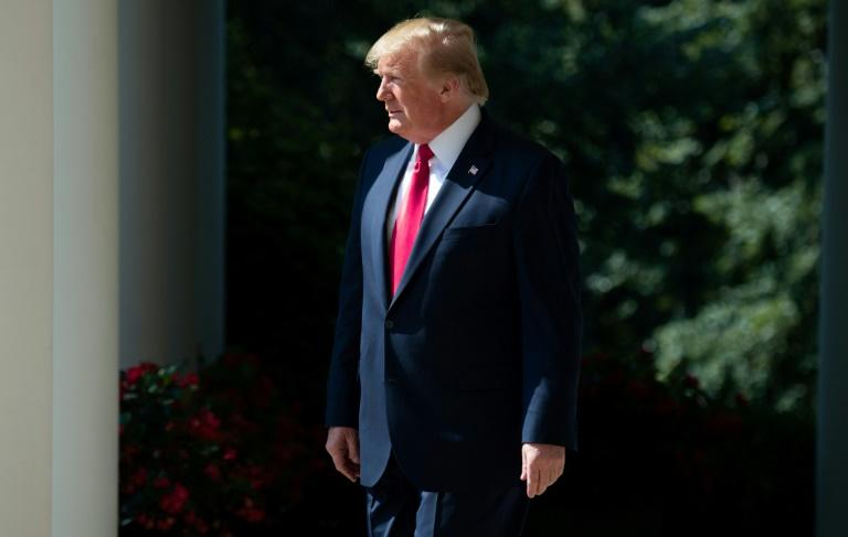 US President Donald Trump has used his veto powers on three occasions since taking office (AFP Photo/SAUL LOEB)