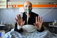 Salvatore said he was a big supporter of vaccines but had not yet had his coronavirus jab before he feel gravely ill (AFP/Alberto PIZZOLI)