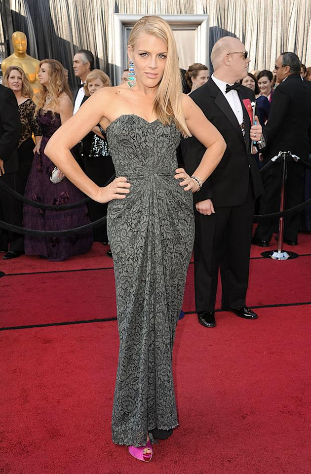 HOLLYWOOD, CA - FEBRUARY 26:  Actress Busy Philipps arrives at the 84th Annual Academy Awards held at the Hollywood & Highland Center on February 26, 2012 in Hollywood, California.  (Photo by Steve Granitz/WireImage)