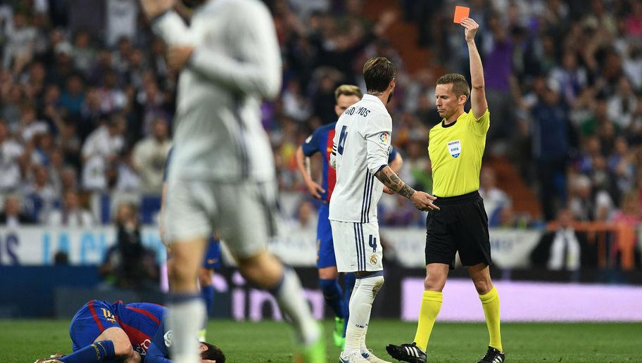 <p>Sergio Ramos has a knack of providing his side with a much-needed goal, however also, all too regularly, proves pivotal in hindering Madrid.</p> <br /><p>The 31-year-old centre-back failed to control his aggression yet again and was sent for an early bath thanks to a highly-dangerous two-footed lunge on Lionel Messi.</p> <br /><p>The lack of the fourth man at the back proved decisive for Barcelona's winner, with Los Blancos spread thin and susceptible to the counter-attack which allowed Messi to ghost into the Madrid penalty area unopposed and fire home the winner in the 92nd minute.</p>
