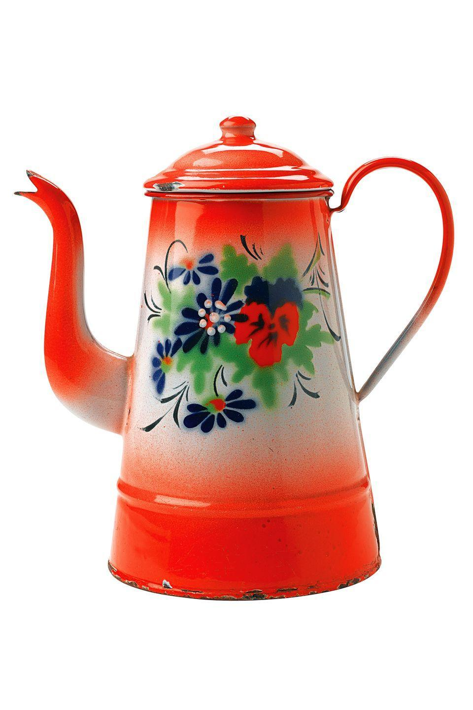 <p><strong>What it was worth (2005):</strong> $350</p><p><strong>What it's worth now:</strong> $200</p><p>We'd love to have our coffee or tea served from this floral painted pot.</p>