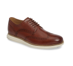 """<p><strong>COLE HAAN</strong></p><p>nordstrom.com</p><p><strong>$150.00</strong></p><p><a href=""""https://go.redirectingat.com?id=74968X1596630&url=https%3A%2F%2Fshop.nordstrom.com%2Fs%2Fcole-haan-original-grand-wingtip-derby-men%2F4630799&sref=https%3A%2F%2Fwww.esquire.com%2Fstyle%2Fmens-fashion%2Fg28186249%2Fbusiness-casual-shoes%2F"""" rel=""""nofollow noopener"""" target=""""_blank"""" data-ylk=""""slk:Shop Now"""" class=""""link rapid-noclick-resp"""">Shop Now</a></p><p>A wingtip derby is pretty formal shoe, insofar as office-wear goes, at least. But Cole Haan has made it much more casual with the addition of grooved rubber sole.</p>"""